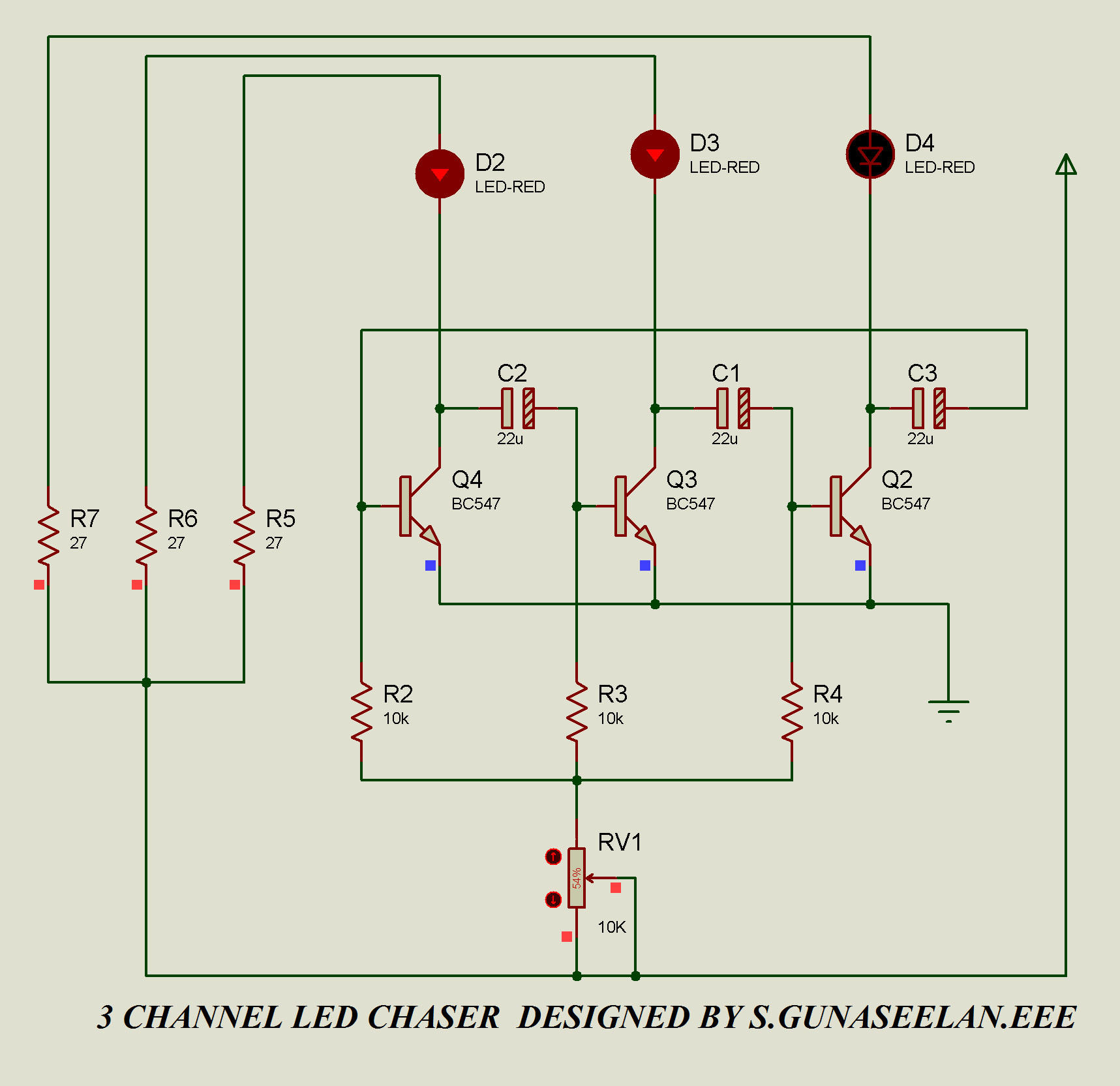 Gunacircuits Relay Circuit Using Bc547 That Looks Too Good To Be True However The Following Diagram Will Simply Prove Its Really Possible Create A Legal Led Chaser