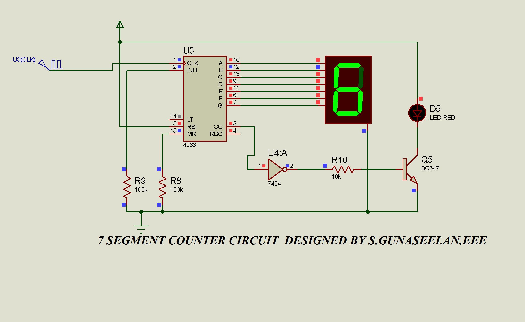 Gunacircuits 555 Timer 7 Segment Display Counter Circuit Diagram Digital Counters Are Needed Everywhere In This World And Is One The Best Component To Numbers